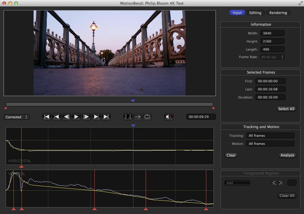 MotionBend processing 4K UHD Test Video