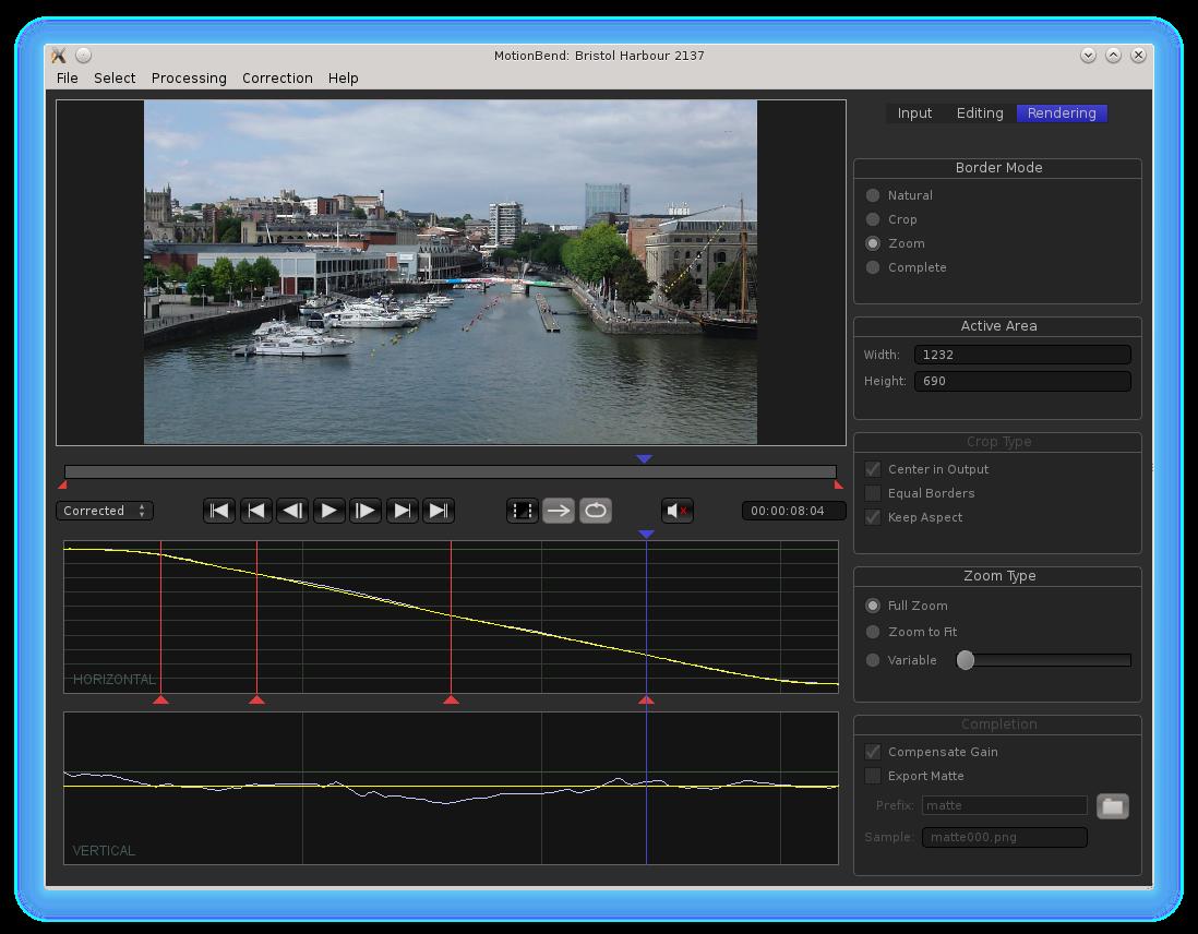 Linux MotionBend Screenshot