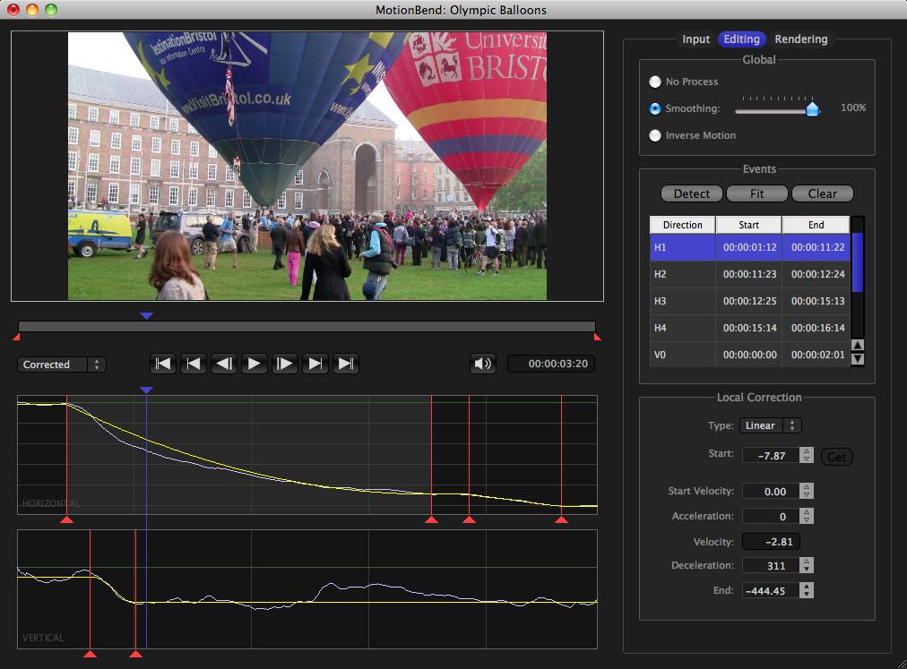 MotionBend Screenshot