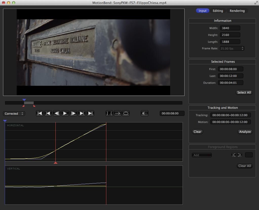 FS7 Video in MotionBend