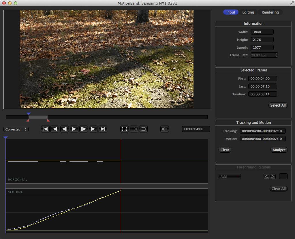 NX1 Video in MotionBend