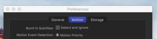 MotionBend preferences