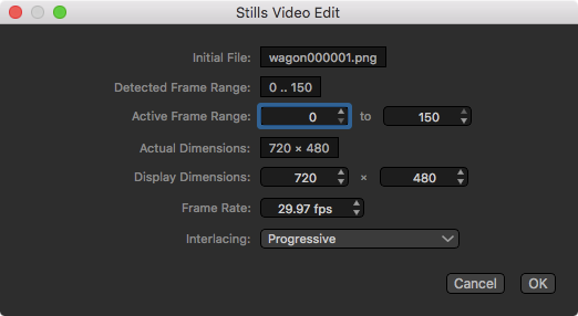 Editing stills