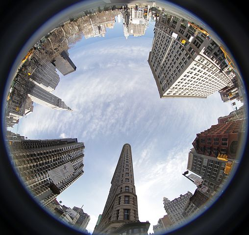 Flatiron fish eye image