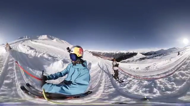 GoPro Fusion video stitched